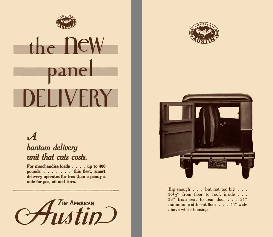 American Austin 1931 - the New Panel Delivery - A Bantam Delivery Unit That Cuts Costs