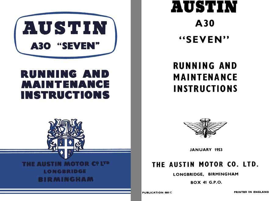 austin 1953 austin a30 seven running and maintenance. Black Bedroom Furniture Sets. Home Design Ideas