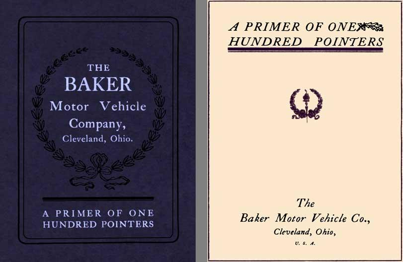 Regress Press Baker 1910 The Baker Motor Vehicle