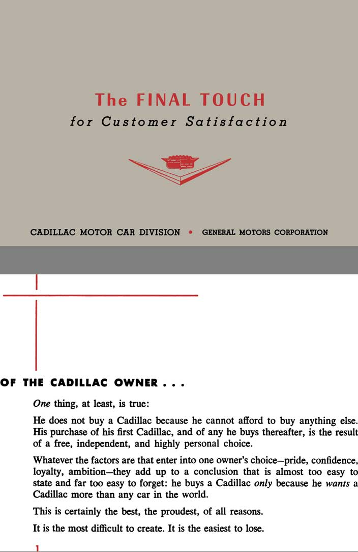 cadillac 1957 the final touch for customer satisfaction ebay. Cars Review. Best American Auto & Cars Review