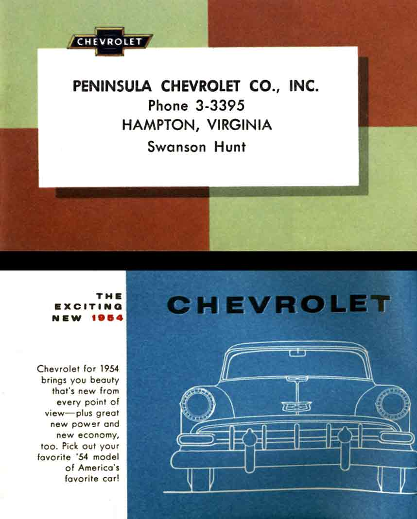 Chevrolet 1954 - The Exciting New 1954 Chevrolet Chevrolet 1954 - The ...