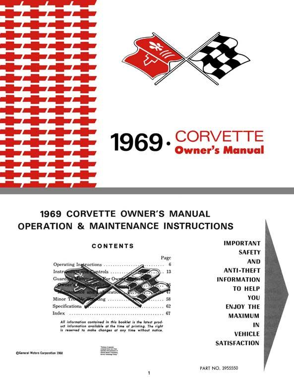 regress press chevrolet corvette 1969 1969 corvette owners manual rh regresspress com 1967 corvette owners manual original 1968 corvette owners manual free download