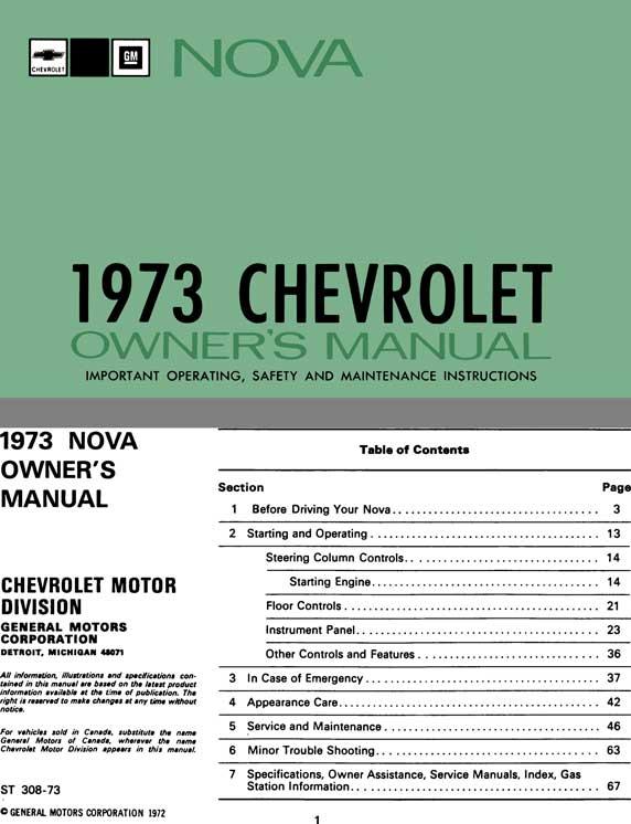 regress press chevrolet nova 1973 owner s manual nova 1973 rh regresspress com automobile owners manuals online free automobile owners manuals online