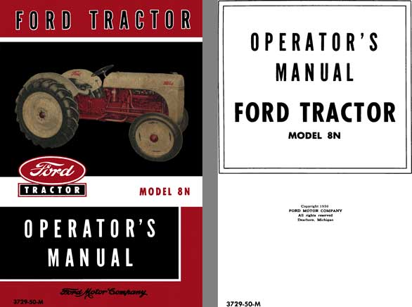 Ford Ford Tractor Model N Operat Id