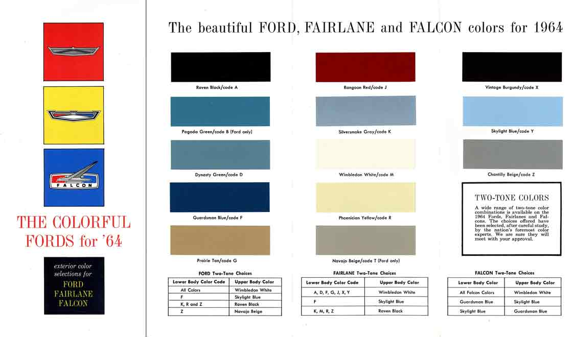 1038166 1967 Ford Fairlane Paint Colors