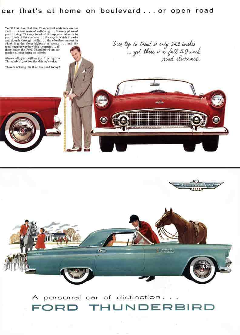 regress press ford thunderbird 1954 a personal car of distinction. Cars Review. Best American Auto & Cars Review