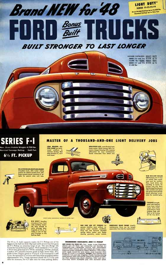 Ford Trucks Light Duty Series F Id on 1970 Ford Paint Color Chart