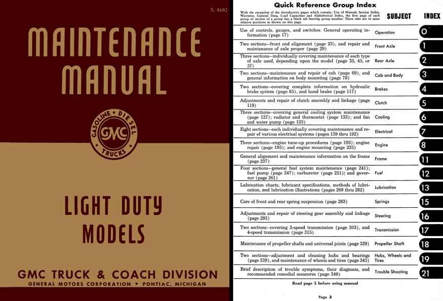 Regress Press -GMC Maintenance Manual 1945-1946 Light Duty ...