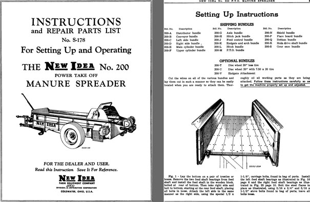 New Idea Spreader Parts : Regress press new idea instructions repair parts list