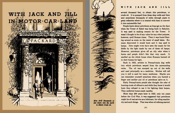 Regress Press Packard 1933 With Jack And Jill In Motor