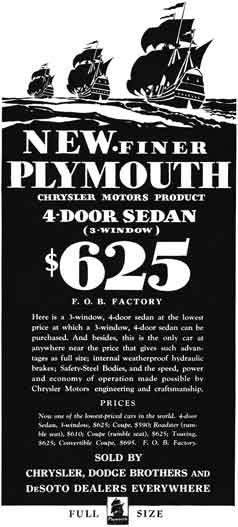 Plymouth 1930 plymouth ad new finer plymouth 4 door for 1930 plymouth 4 door sedan