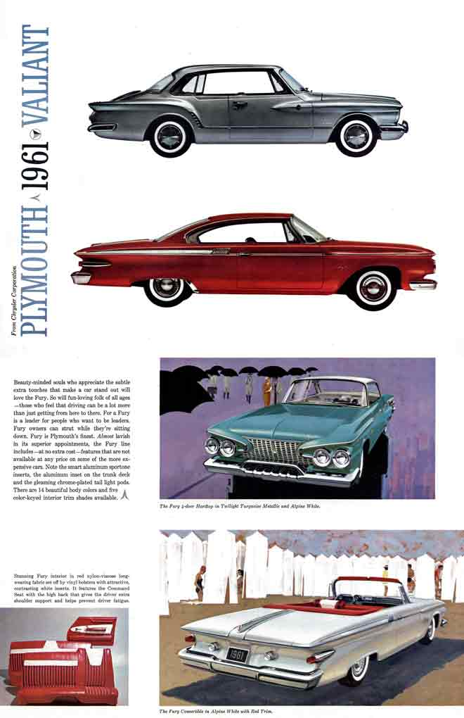 Valiant 1961 Plymouth - From Chrysler Corporation - Plymouth 1961 Valiant