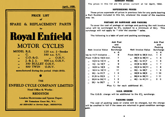 Royal enfield official price list