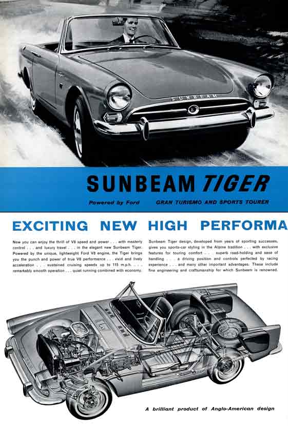 Tiger Sunbeam (c1964) - Gran Turismo and Sports Tourer ~ Powered by Ford