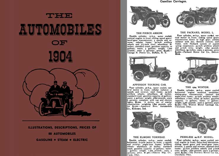 The Automobiles of 1904 - Gasoline, Steam, Electric - 88 Automobiles