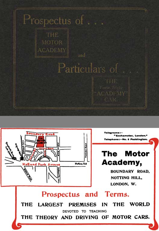 The Motor Academy 1906 - Prospectus of... The Motor Academy and Particulars of... The Tourist Trophy