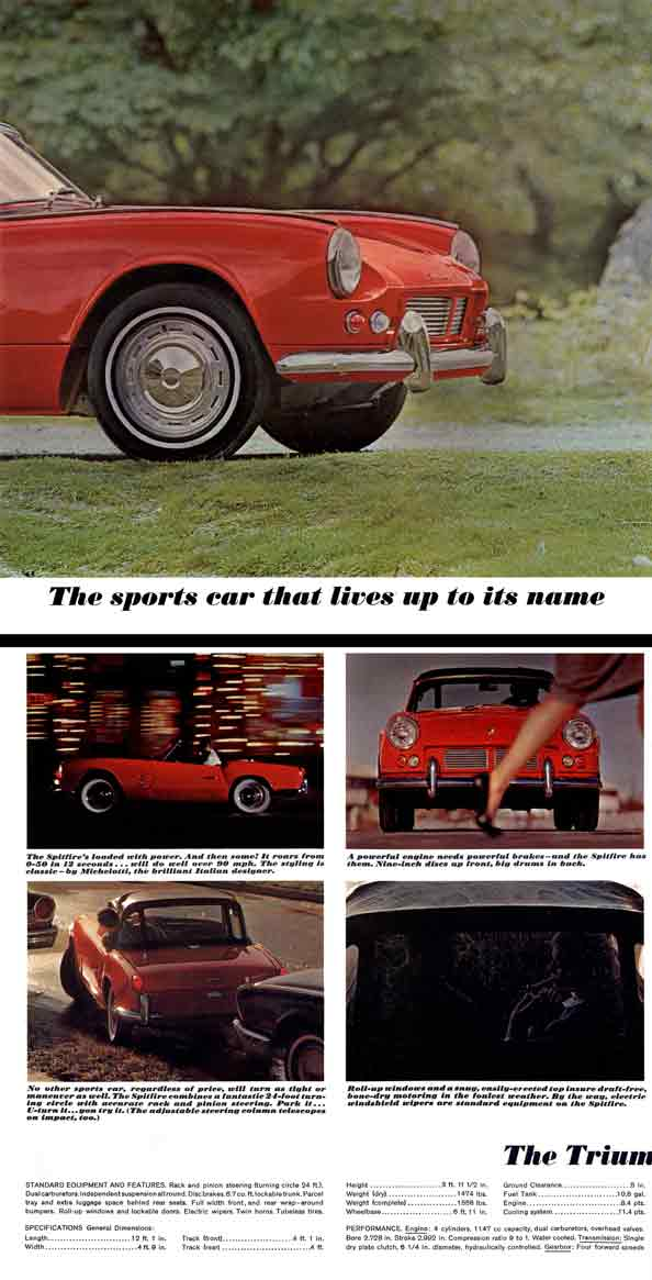 Triumph Spitfire 1963 - The sports car that lives up to its name