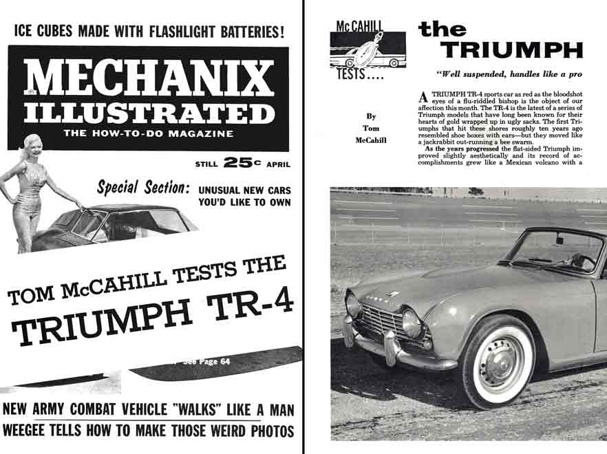 Triumph TR4 1962 - Tom McCahill Tests the Triumph TR-4 reprint