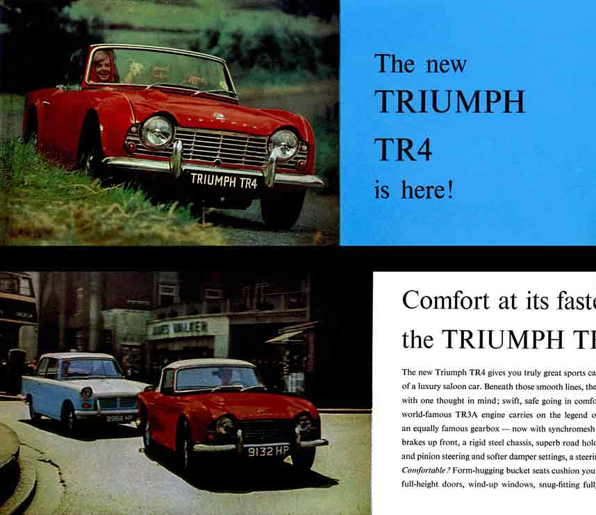 Triumph TR4 (c1965) - the New Triumph TR4 is here!