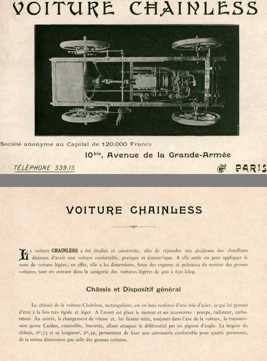 Voiture 1901 - Voiture Chainless (In French)