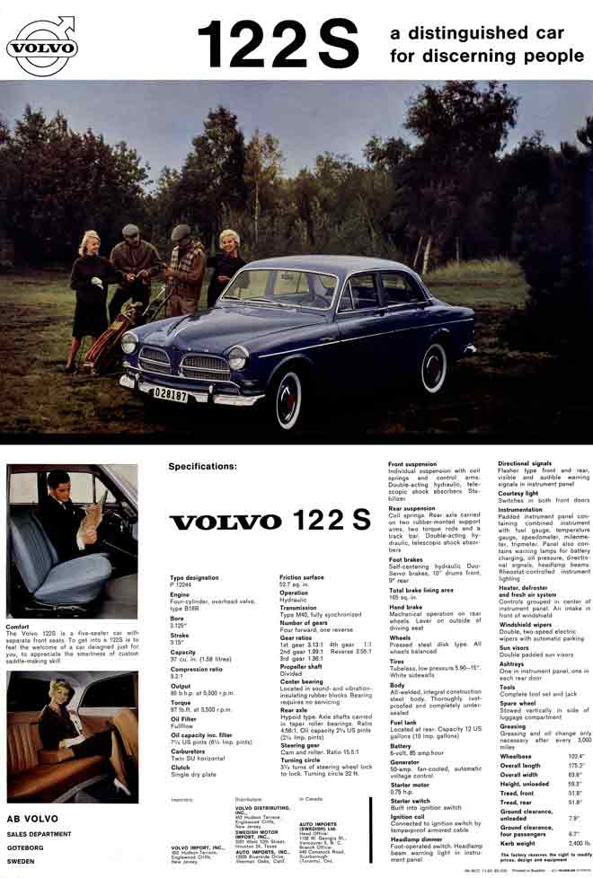 Volvo 122S (c1960) - a distinguished car for discerning people