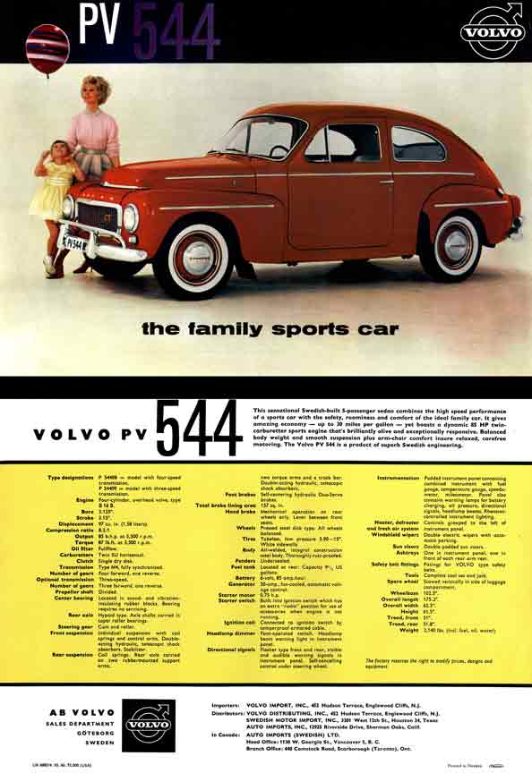 Volvo PV544 (c1960) - the family sports car